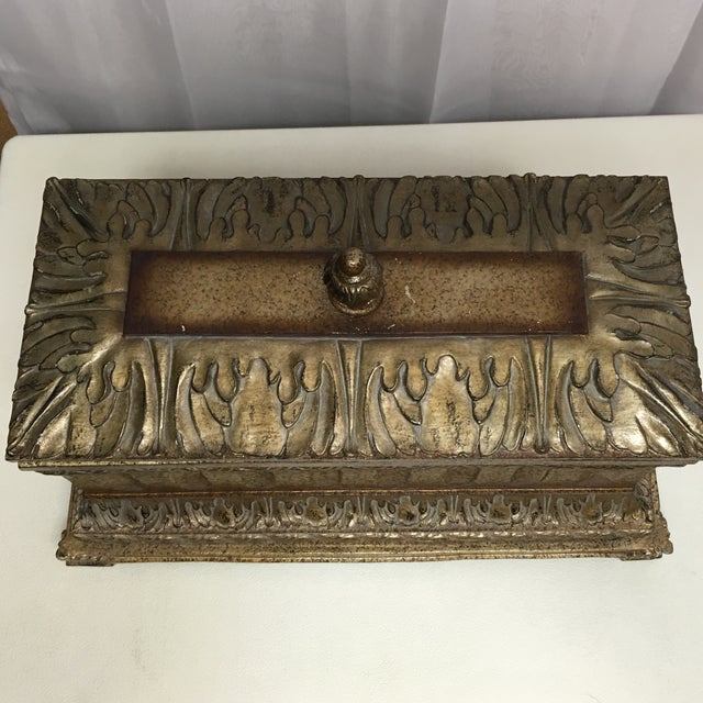 Decorative Box with Silver Accents - Image 3 of 5