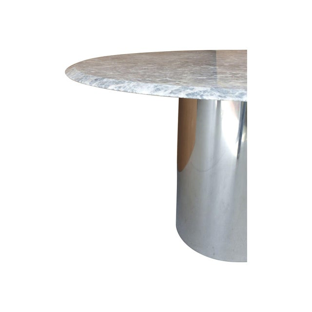 Chrome & Marble Dining Conference Table by Brueton - Image 4 of 6