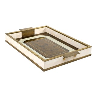 Eglomise Tray Brass in Gold / Brass - Steven Gambrel for The Lacquer Company For Sale
