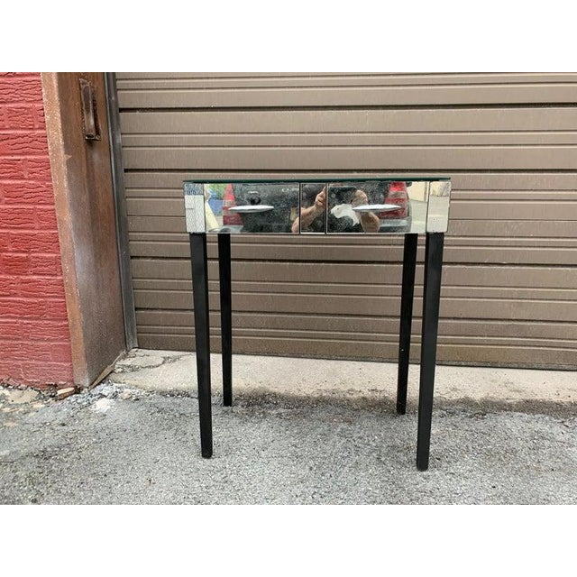 Mid Century Mirrored Vanity Table For Sale - Image 4 of 6