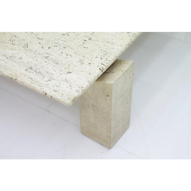 Stone Large Travertine Coffee Table 1960s For Sale - Image 7 of 10
