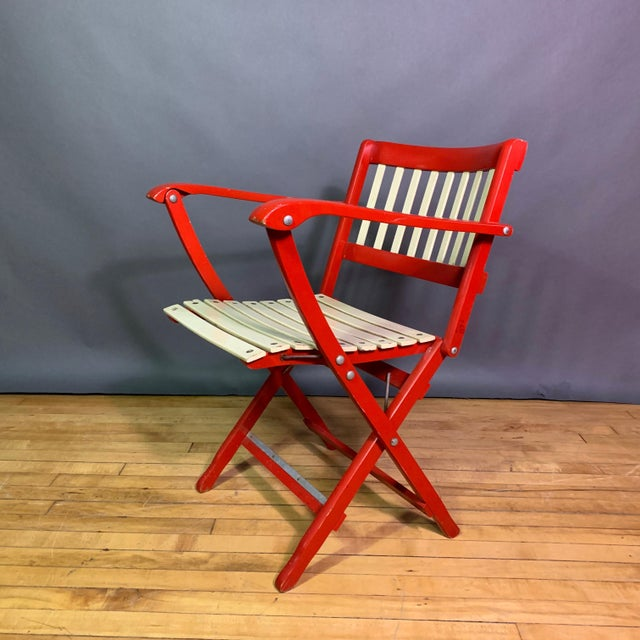 Pair Fratelli Reguitti Lacquered Folding Chair, Italy 1960s For Sale - Image 10 of 13