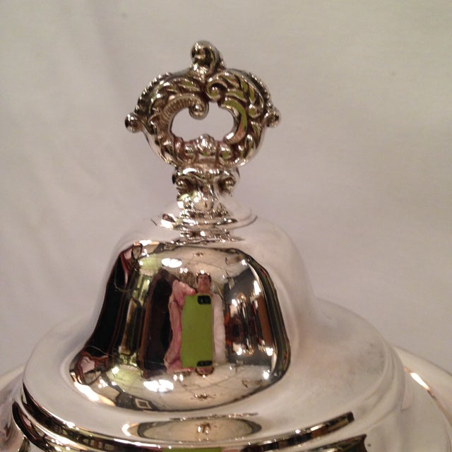 Vintage Silver Plate Footed Coffee Pot - Image 3 of 6