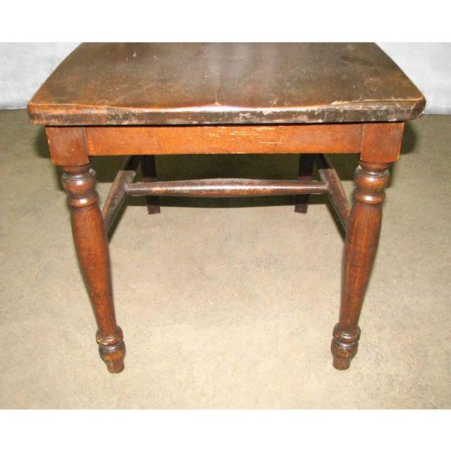 Original Antique Dark Oak Chair For Sale - Image 4 of 9
