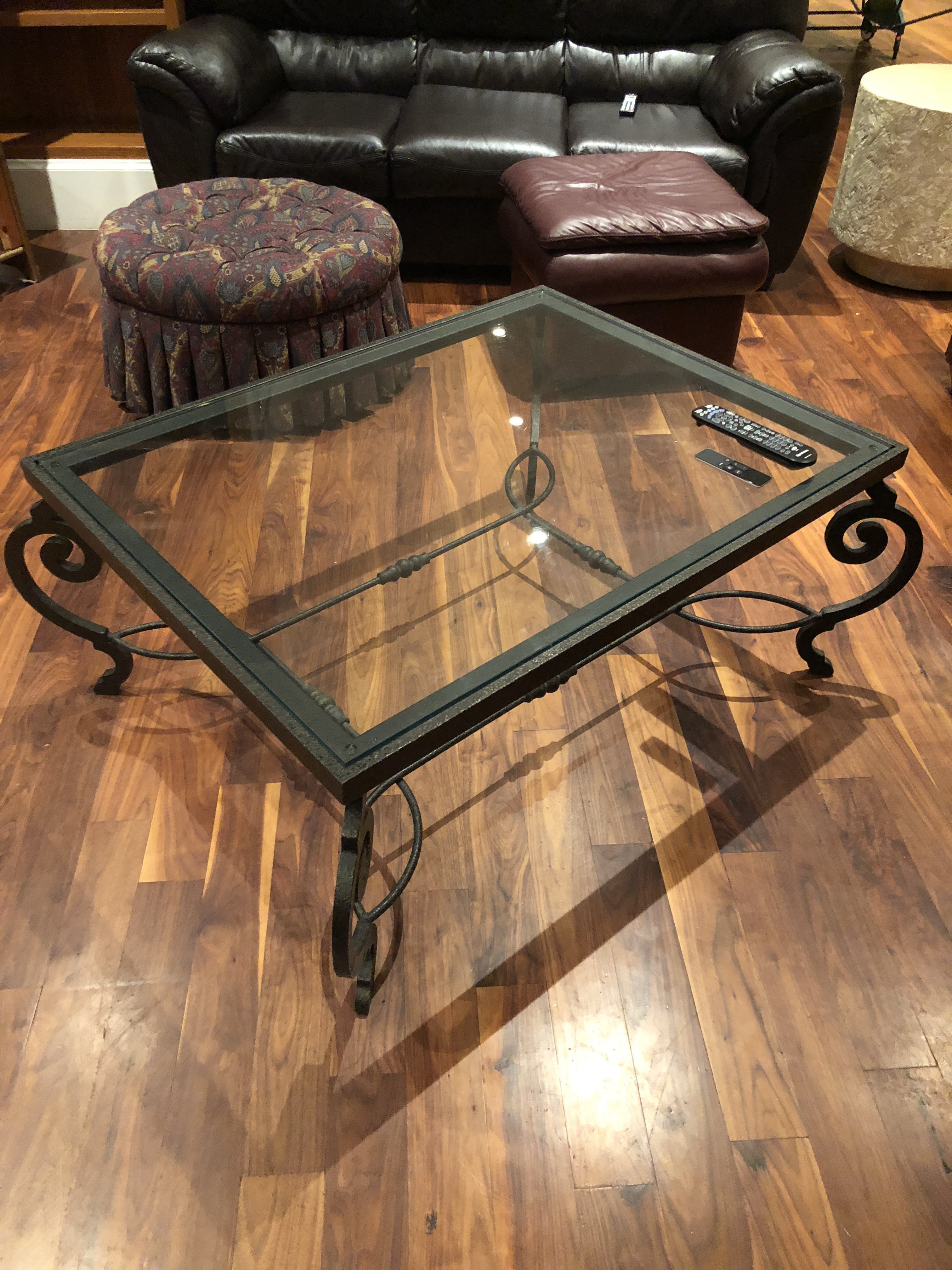 Lovely Wrought Iron And Glass Coffee Table Available In NYC Loft Apartment  Liquidation Sale. Table