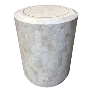Art Deco Maitland-Smith Large Tessellated Stone Drum Table For Sale