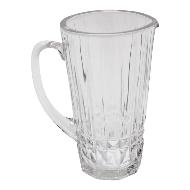 Val St. Lambert Crystal Pitcher For Sale