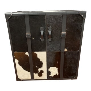 Cowhide Rolling Bar Chest For Sale