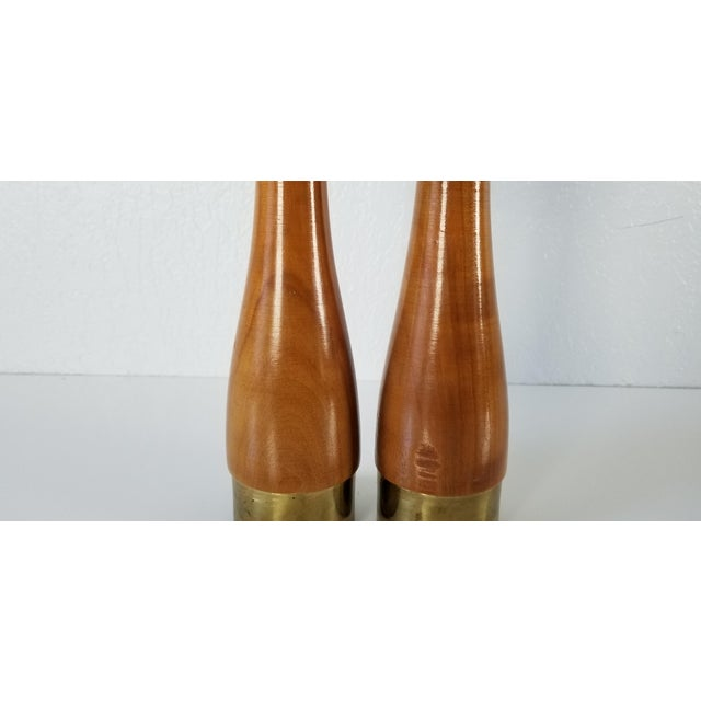 1970s Italian Mid-Century Danish Salt and Pepper Shakers a Pair For Sale - Image 5 of 8