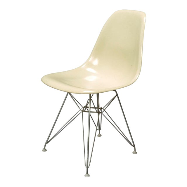 1950s Mid-Century Modern Charles Eames Fiberglass Shell Chair For Sale