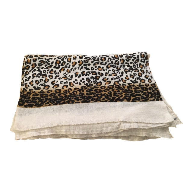 Large Thin Leopard Cashmere Throw - Image 1 of 10