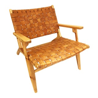 Leather Strap Arm Chair