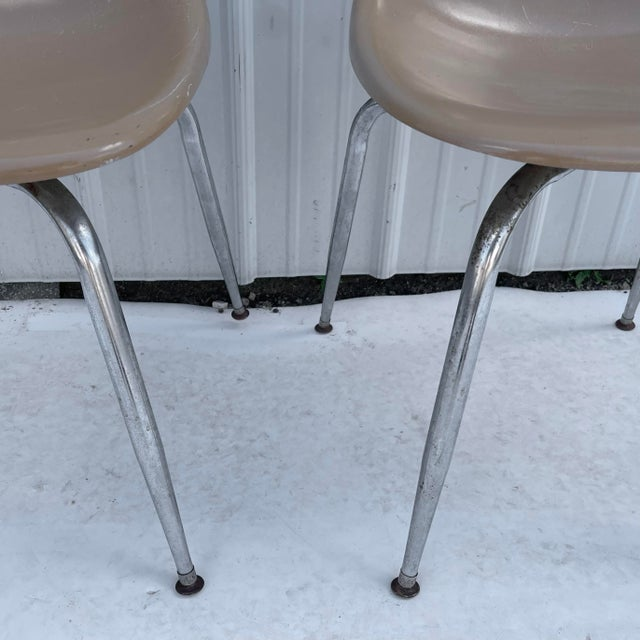 Charles Eames Pair Mid-Century Eames Style Shell Chairs For Sale - Image 4 of 13