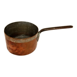 19th Century French Copper Deep Sauce Pan For Sale