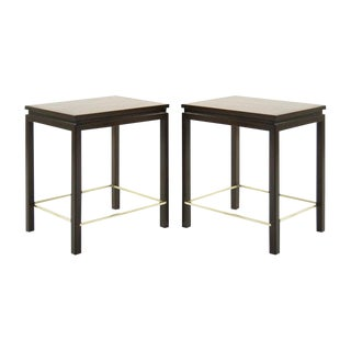 Edward Wormley for Dunbar Brass Stretcher Side Tables, 1950s - a Pair For Sale