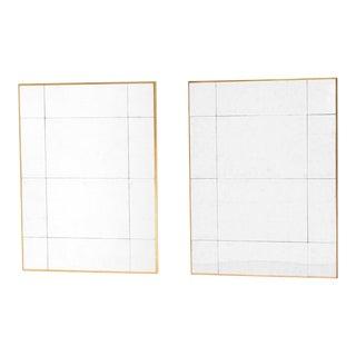 Gold Frame Mirrors - A Pair