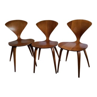 Plycraft Norman Cherner Pretzel Chairs - Set of 3 For Sale
