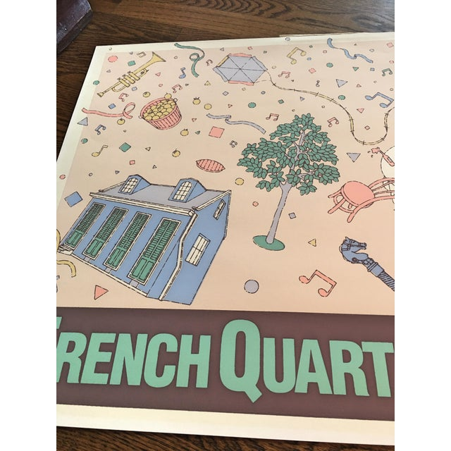 """Vintage """"French Quarter Festival 84"""" Lithographic Poster - Image 5 of 11"""