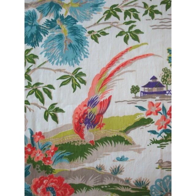 Chinoiserie Pagoda Cotton Fabric - 4.8 Yards - Image 2 of 6