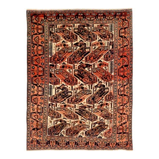 1950s Persian Area Rug Isfahan Design For Sale