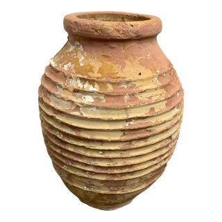 19th Century Mediterranean Terracotta Olive Oil Vessel For Sale
