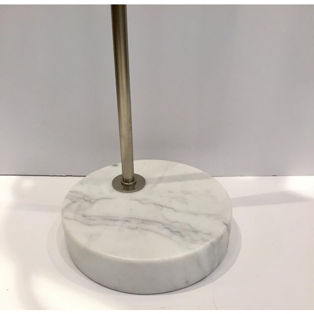 Arteriors Modern Silver Metal Yasmin Floor Lamp | Chairish