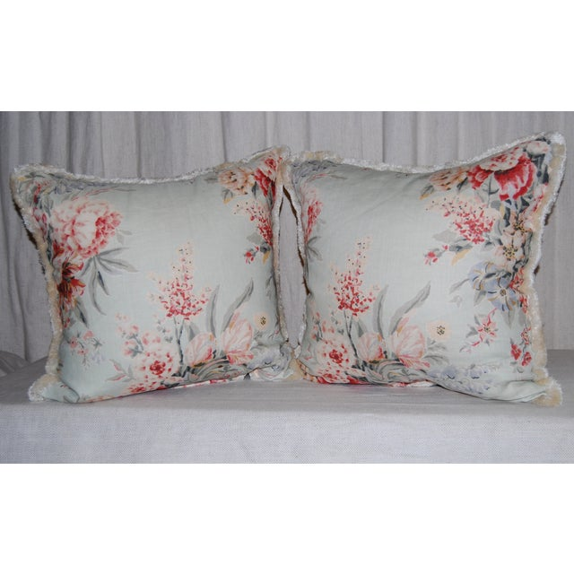 Travers Floral Pillows - Pair - Image 3 of 4