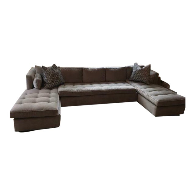 Duralee Boxed Back Sectional Sofa - Image 1 of 3