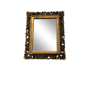 Gold Gilt-Carved Mirror For Sale