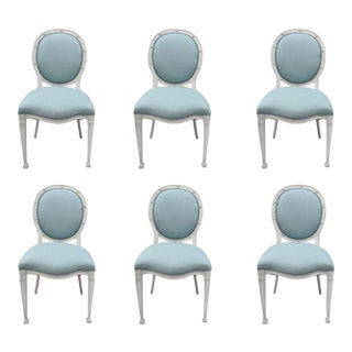 French Regency Neoclassical Style Dining Chairs - Set of 6