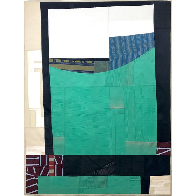Contemporary Rising Up, 2017 pieced vintage silk by Debra Smith For Sale - Image 3 of 3
