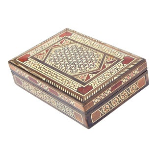 1980s Syrian Mosaic Box For Sale