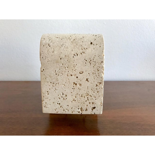 Fratelli Mannelli Travertine Elephant Bookend For Sale - Image 9 of 11