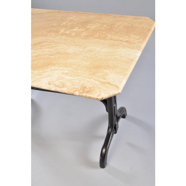 Pub Table With Marble Top and Ebonised Bentwood Base For Sale - Image 11 of 12