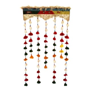 Handmade Kilim With Tassel Beads For Sale