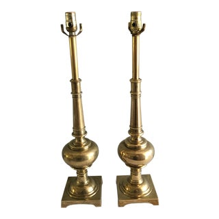 1960s Mid-Century Modern Brass Stiffel Lamps - a Pair For Sale