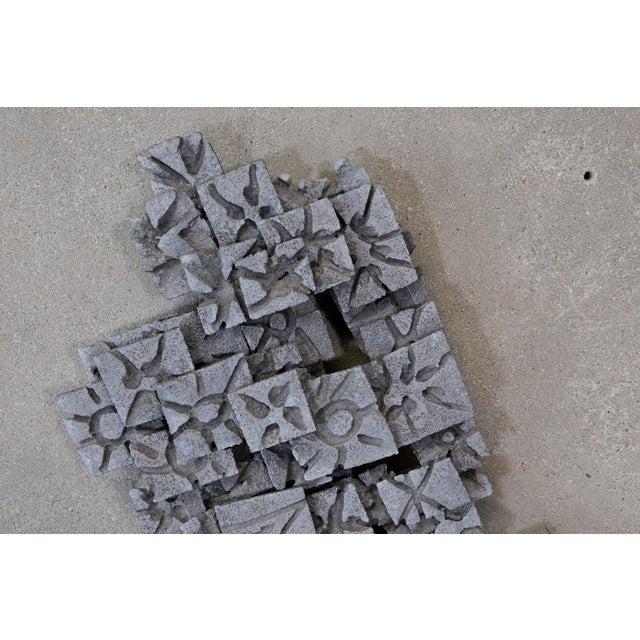 Aluminum Brutalist Wall Art Piece - Image 4 of 4