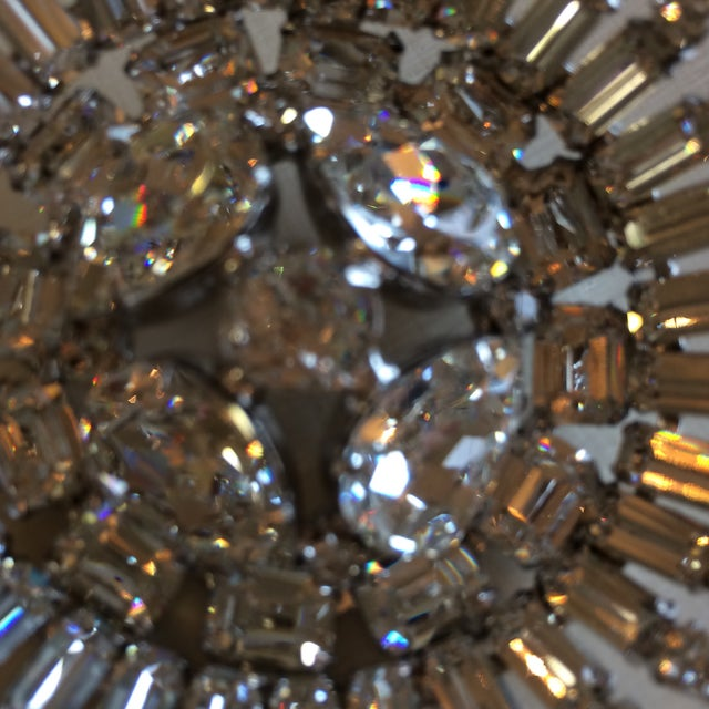 Early 50's Stunning Weiss Center Diamond Cut Domed Center Crystal Brooch For Sale In Sacramento - Image 6 of 8