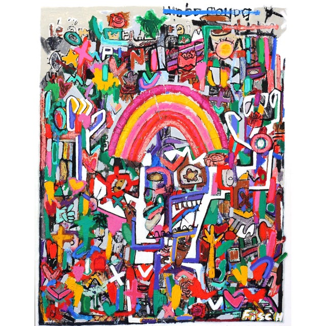 """""""The Whirling Rainbow Man"""" Mixed Media by Jonas Fisch - Image 1 of 9"""