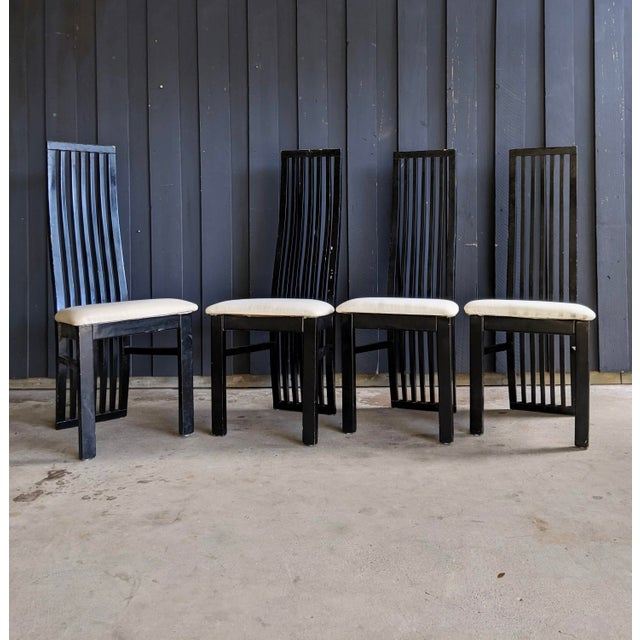 Wood 1980s Contemporary Dining Chairs - Set of 8 For Sale - Image 7 of 10