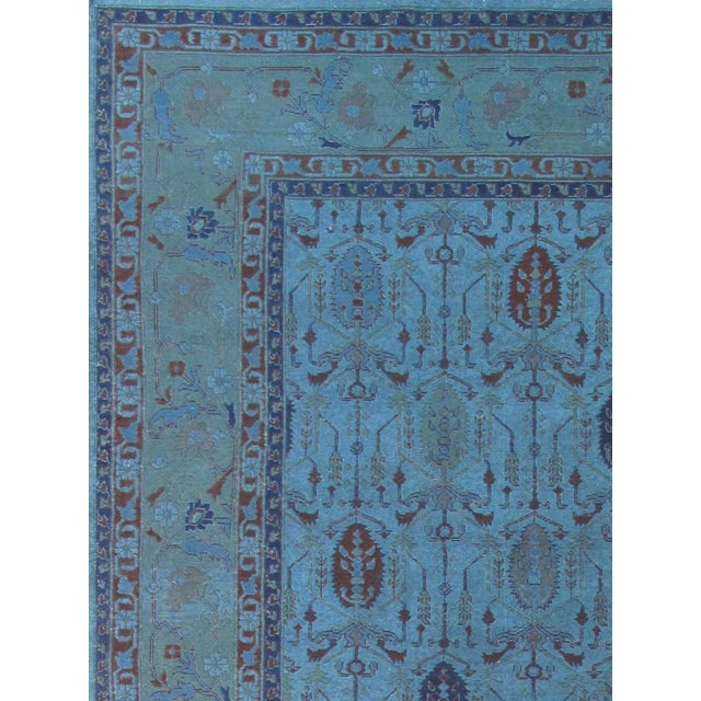 Over-Dyed Afghan Kilim Weave Rug - 10' x 13′5″ - Image 3 of 3