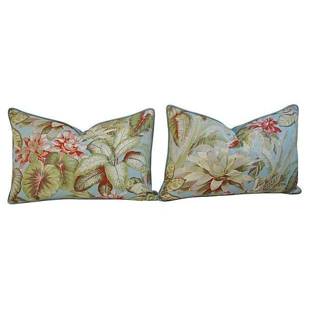 Lush Botanical Linen & Velvet Pillows - Pair - Image 2 of 7