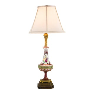 Victorian Style Ornate Floral Table Lamp For Sale