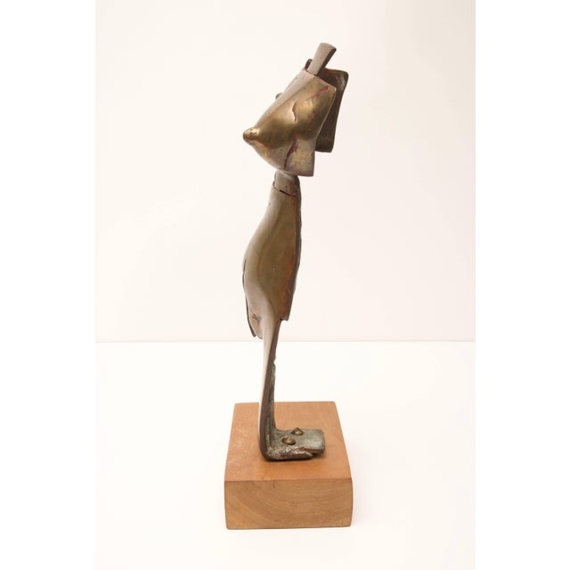 Late 20th Century Brutalist Nude Female Bronze Sculpture C. 1996 For Sale - Image 5 of 11
