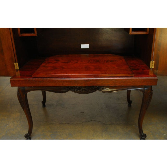 Louis XV Style Carved Walnut Cabinet on Stand - Image 9 of 10
