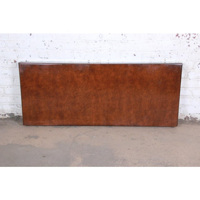Brown Milo Baughman for Thayer Coggin Burled Maple Queen Size Headboard For Sale - Image 8 of 8