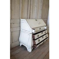 19th Century Painted Pine Dutch Secretaire With Keys For Sale - Image 4 of 6