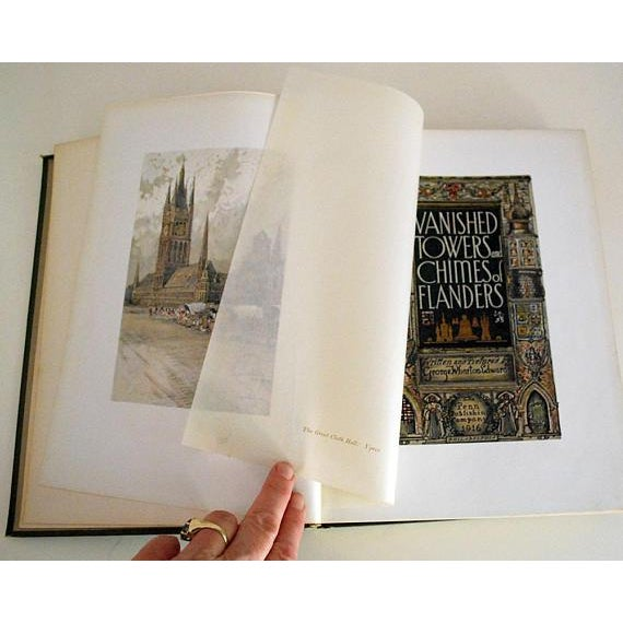 1916 Vanished Towers & Chimes of Flanders, 1st Edition Book For Sale - Image 4 of 6