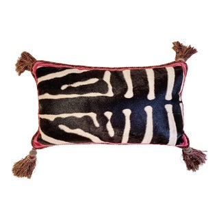 """One of a Kind Zebra Pillow, 26"""" For Sale"""