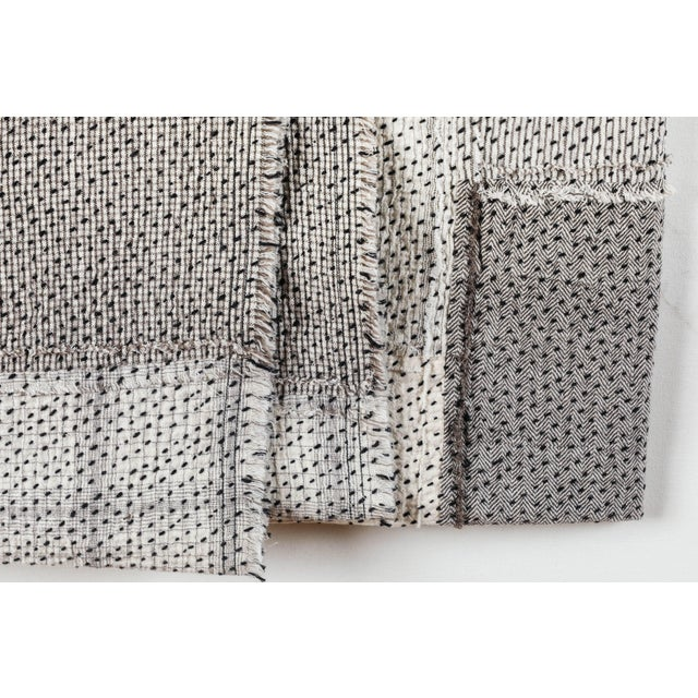 Contemporary Chindi Indian Kantha Stitch Quilted Bedcover For Sale - Image 3 of 10